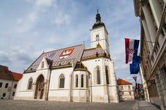 St Mark kyrka i Kroatien Royaltyfri Fotografi