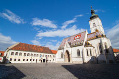 St Mark kyrka i Kroatien Arkivbild