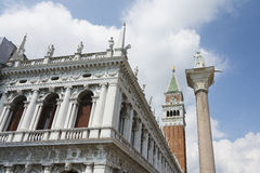 St Mark Quadrat in Venedig Stockfotos