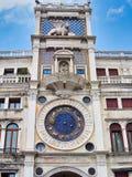 Saint Mark`s Clock, Venice, Italy stock photography