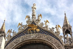 St. Mark's Basilica Gold Detail Royalty Free Stock Photo