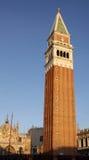 St. Mark\'s Basilica and Campanile Royalty Free Stock Photo