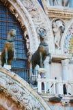 St. Mark`s basilica, horses, in Venice, Italy Stock Image