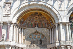 St. Mark's Basilica, partial view, Venice, Italy Stock Image