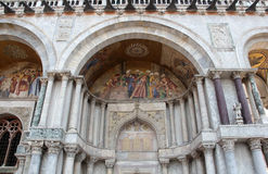 St. Mark's Basilica, partial view, Venice, Italy Royalty Free Stock Images