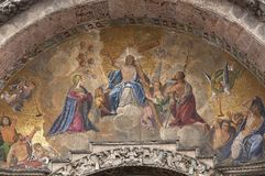 St Mark's Basilica relief, Venice, Italy Royalty Free Stock Images
