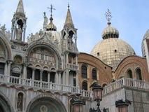 St Mark`s Basilica in St. Mark`s Square in Venice, Italy stock image