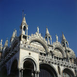 St Mark's Basilica in Venice. The spires of St Mark's basilica in Venice Stock Photography