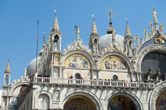 St Mark's Basilica Venice Italy Architecture Detail Stock Photography