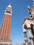 St. Mark's bell tower and basilica, Venice, Italy Royalty Free Stock Photos