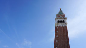 St Mark`s Campanile the bell tower of St Mark`s Basilica in the Royalty Free Stock Image
