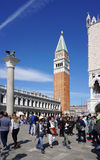 St Mark`s Campanile the bell tower of St Mark`s Basilica in the Royalty Free Stock Photography