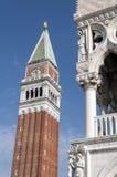 St Mark's Campanile. Stock Photo