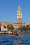St. Mark's Campanile and lagoon of Venice Stock Photography