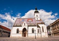 St. Mark's Church. At St. Mark's Square, Zagreb, Croatia Royalty Free Stock Image