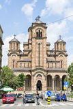 St. Mark's Church, Belgrad, Serbia. BELGRAD,SERBIA - JULY 3: Tourists visiting St. Mark's Church on July 3,2014, Belgrad. Located in the Tasmegdan park, near the Stock Photo