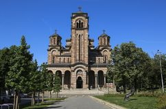 St. Mark`s Church or Church of St. Mark is a Serbian Orthodox church in Belgrade, Serbia. St. Mark`s Church or Church of St. Mark is a Serbian Orthodox church stock images
