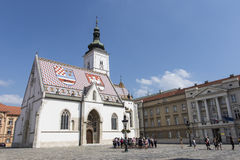 St Mark's Church of Zagreb Royalty Free Stock Photography