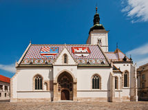 St. Mark's Church in Zagreb, Croatia stock photos