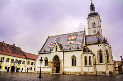 St. Mark's Church in Zagreb, Croatia Royalty Free Stock Photos