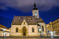 St. Mark's Church, Zagreb Royalty Free Stock Photography