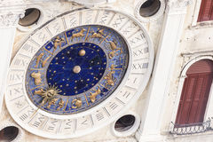 St Mark`s Clock - Piazza San Marco in Venice Royalty Free Stock Photo