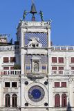 St Mark`s Clock tower Torre dell`Orologio on Piazza San Marco, Venice, Italy Stock Image