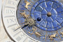 St Mark`s Clock tower Torre dell`Orologio on Piazza San Marco,Venice, Italy Royalty Free Stock Image
