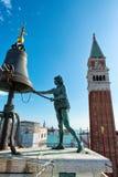 St Mark's Clocktower in Venice, Italy Royalty Free Stock Photos