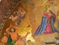 St Mark& x27; s Kathedraal, godsdienstig gouden mozaïek Stock Foto's