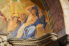St Mark& x27; s Kathedraal, godsdienstig mozaïek Royalty-vrije Stock Afbeelding