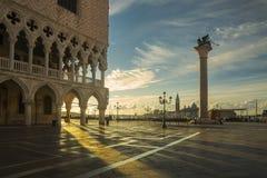 St Mark ` s kwadrata wschód słońca zdjęcie royalty free