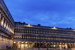 St- Mark` s Quadrat - Marktplatz San Marco in Venedig Stockbilder