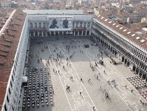 St Mark's Square air view Stock Image
