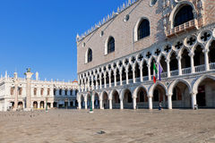The St. Mark's Square with Campanile and Doge's Palace Royalty Free Stock Photos