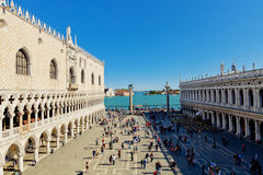 The St. Mark's Square with Campanile and Doge's Palace Royalty Free Stock Photography