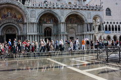 St. Mark's Square floods Royalty Free Stock Photo