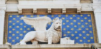 St Mark's Square and lion, Venice, Italy stock images
