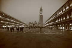 St Mark's Square at night Royalty Free Stock Photography