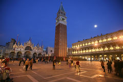 St Mark's Square at night Stock Photos