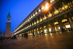 St Mark's Square at night Royalty Free Stock Photos