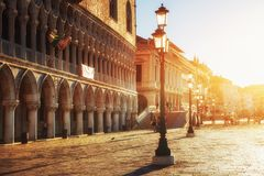 St Mark's Square Piazza San Marco and Campanile bell tower in Venice Royalty Free Stock Photos
