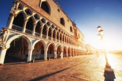 St Mark's Square Piazza San Marco and Campanile bell tower in Venice. Italy. Stock Photography