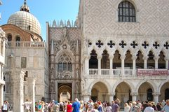 St Mark`s Square Piazza San Marco and The Doges Palace , v stock photography