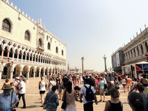 St Mark's Square Piazza San Marco Venice Italy. Tourists in summer time at St Mark's Square Piazza San Marco, Venice, Italy Stock Image