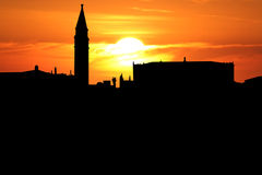 St Mark's Square at sunset Royalty Free Stock Image