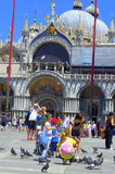 St Mark`s square tourists Venice Italy Royalty Free Stock Photos
