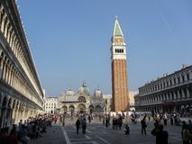 St. Mark's Square in Venice Italy Royalty Free Stock Images