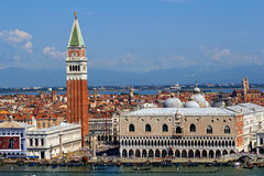 St. Mark's Square in Venice, Italy. Deaview of St. Mark's Square in Venice, Italy royalty free stock image