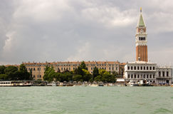 St Mark's Square, Venice from the Lagoon Stock Photography